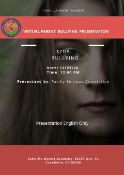 Bullying Parent Presentation