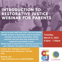 Introduction to Restorative Justice Webinar for Parents